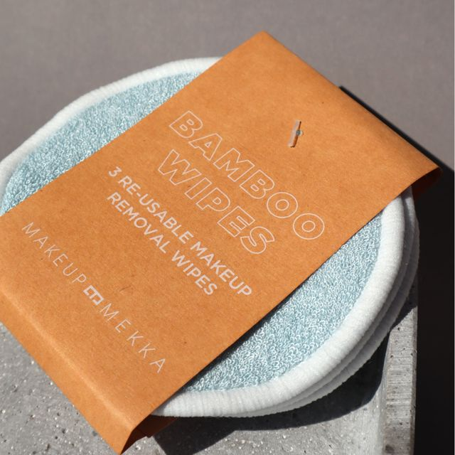 Bamboo Makeup Remover Wipes 3pk - Light Blue